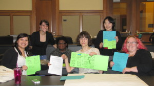 Photo of my team and Washtenaw ID representatives with our winning design