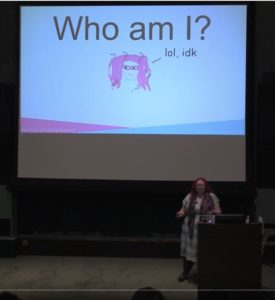 "Kat King presenting ""The IA of I Am"""